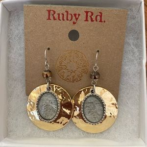 Ruby Rd Earrings Gold Gemstone
